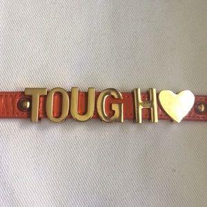 Lettered Leather Bracelet